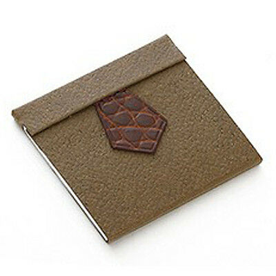 13013 auth HERMES brown Miel Crocodile TIE-BLOC MINI Notepad NEW