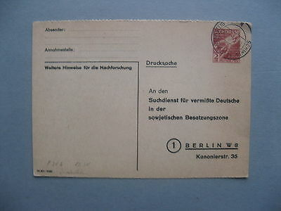 GERMANY ALLIED OCC, official PC Suchdienst CTO 1947