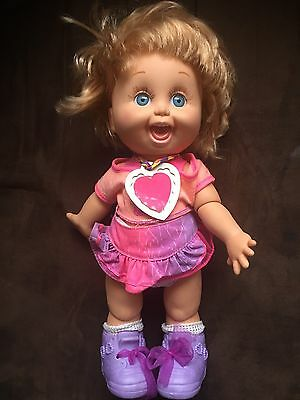 BABY FACE Galoob So Playful Penny Doll 1990 Orig Clothes & Charm VINTAGE 13""