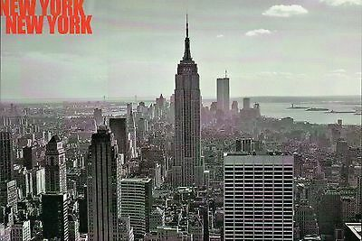 Manhattan Empire State Building, New York City NY, World Trade Center - Postcard