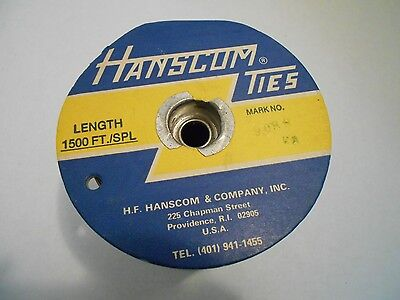 """Hanscom Ties- Mark #9088- 1500 Ft Spool- 1/4"""" Paper Covering - Double Wire"""