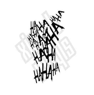 Haha Joker Vinyl Sticker Decal suicide squad car (Window Optional) Harley Quinn
