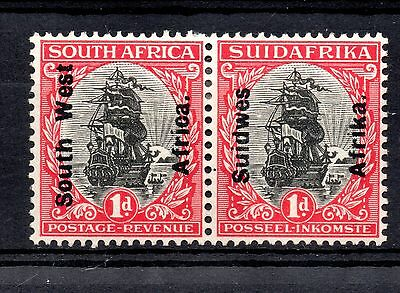 South West Africa (530) 1926  Black and Carime SHIP pair overprinted Sg42  Light