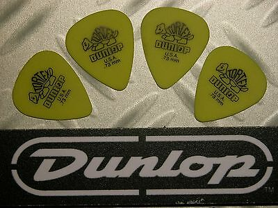 USA médiators Tortex® Jim Dunlop  Lot 4 Médiators Tortex Standard 0,73mm Jaune