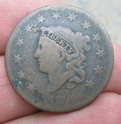 1834 United States Coronet Head Large Cent Coin No Reserve