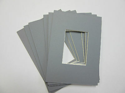 Picture Frame Mats Custom Size Set Of 20 Gray 4x6 With 3x5 Opening