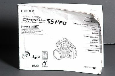 Fujifilm FinePix S5 Pro Camera Instruction Book / Manual / User Guide