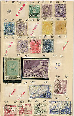 EUROPE Collection 165+ stamps on 10 pages including Spain & Hungary