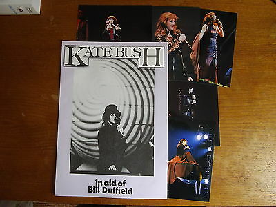 Kate Bush - In Aid Of Bill Duffield 1979 Programme + Ticket & Photos - Mint