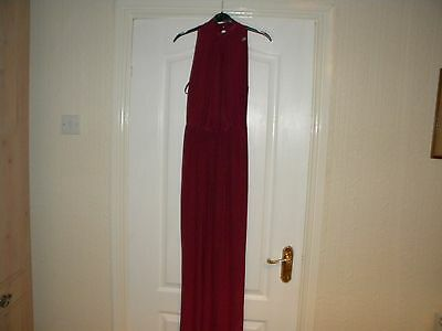 Ladies Love Red Polyester Long Dress, Size 8