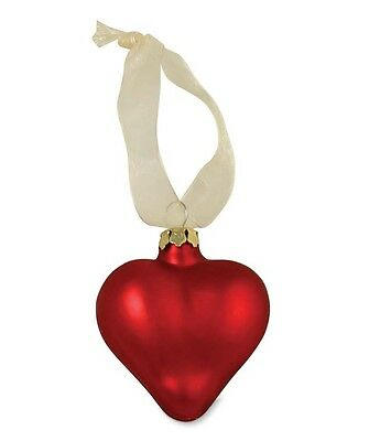 "Bethany Lowe ""Valentine Heart"" Glass Ornament with Ribbon"