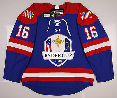 New Mens Under Armour 2016 Ryder Cup Hockey Jersey Small S Blue MSRP $265