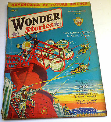 Wonder Stories - April 1932 - US SF Magazine - John W. Campbell, Jr