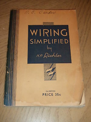 VINTAGE 1951 Wiring Simplified HP Richter National Electric Code UL 21st Ed IAEI