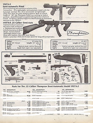 Thompson Center Arms 1927A-5 1927A-3 Schematic Parts List Ad
