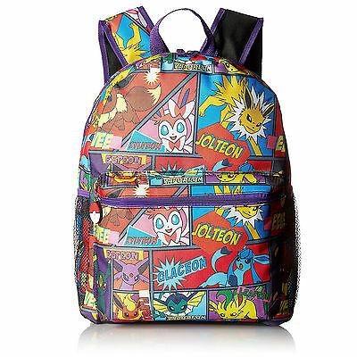 Pokemon Characters Large Kids Backpack 16""