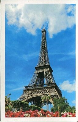 Post Card Of The Eiffel Tower Taken From The Right Side Of The Hedges