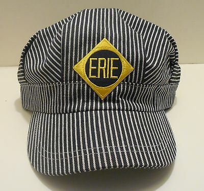 Erie Railroad Patch on Train Engineer Hat Adult Fits All Gold