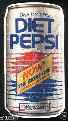 "Vintage 1990 DIET PEPSI Promotional Ad - Fold Out Brochure - 10 3/4"" Tall"