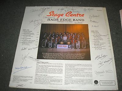 Hade Edge Band Signed By 20 Band Members (Holmfirth Yorkshire) Stage Centre Nm