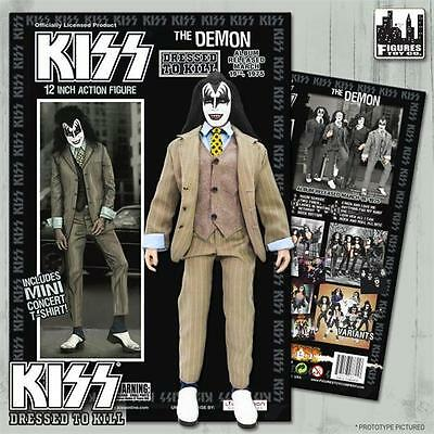 KISS Dressed To Kill 8 Inch Action Figure Gene Simmons Demon BROWN SUIT VARIANT