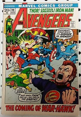 THE AVENGERS #98 - Barry Windsor-Smith - VF