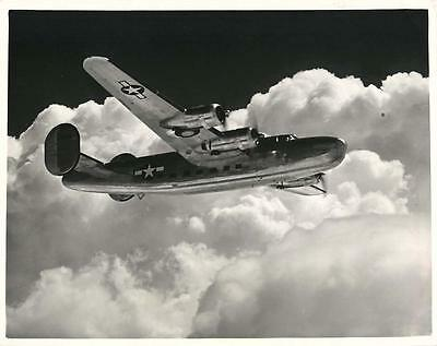 WWII In-Air Consolidated Vultee C-87 Liberator Express Aircraft Orig Press Photo