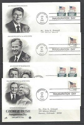 Four Reagan 1st Term Inaugural Covers - Special Buy