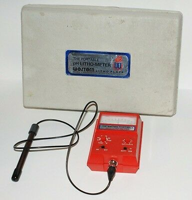 Portable pH Litho-Meter, Western Lithography, Offset Printing, Untested