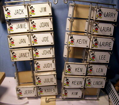 * OLD Disney MICKEY MOUSE Club - Choose 1 NAME from J-L - BICYCLE or DOOR plate