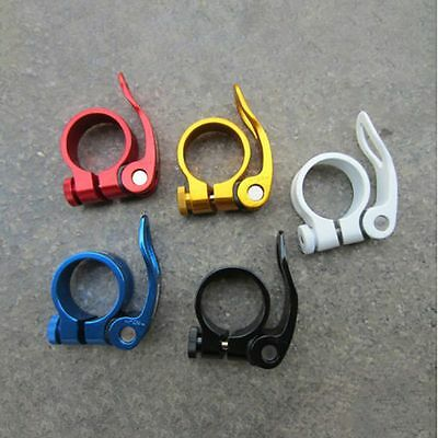 34.9mm Road Bike MTB Seat Post Clamp Seatpost Clamps Collar Quick Release 5Color