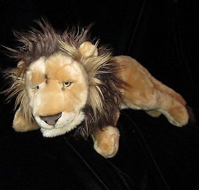 FAO Lion Big Cat Plush Soft Toy Jungle 2013 Toys R Us Stuffed Animal 23""