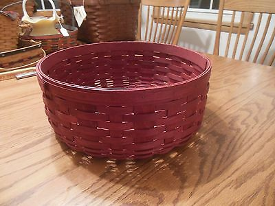 "Longaberger 13"" Red Keeping Basket - Excellent Condition"