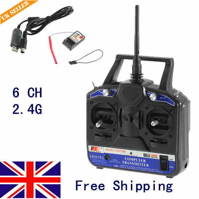 SA Flysky FS-T6 Radio Control 2.4G 6 Channel Transmitter Receiver for RC