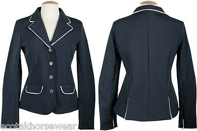 Harry's Horse St Tropez Soft Shell Riding Jacket - Navy with White Trim