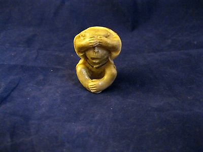 'NETSUKE' HAND PAINTED HAND FINISHED man made Ivory substitute