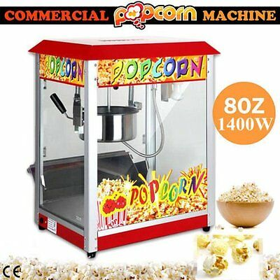 1500W Red Commercial Electric Pop Corn Maker Popcorn Machine Popper Party TOP