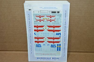 HO scale Microscale Decals 87-487 American President Lines 40' 45' containers