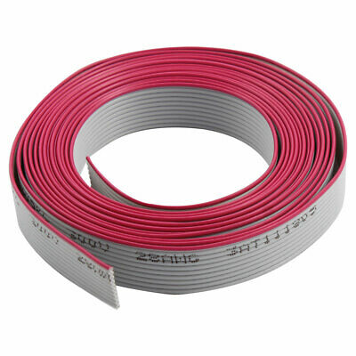 2.5M Length 13cm Width 10 Ways IDC Flat Ribbon Cable Wire Connector Gray Fuchsia