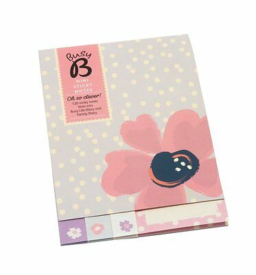 NEW! Busy B Mini Sticky Notes Floral Purple