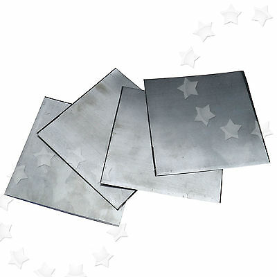 5Pcs High Purity 99.9% Pure Zinc Zn Sheet Plate 100x100x0.2mm for Science Lab