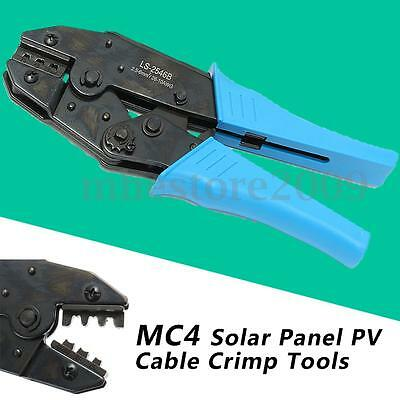 MC4 Solar Panel Cable Connector Crimping Pliers Terminal Ratcheting Crimper Tool
