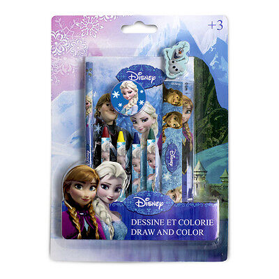 NEW! Disney Frozen Draw And Colour Creative Activity Kit 9Pc CFRO043