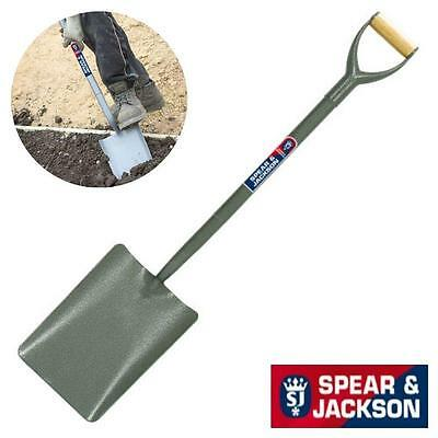 "Spear And Jackson 28"" Concrete Shovel - Tubular Steel Taper Mouth 2000Ac"