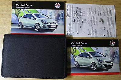 Vauxhall Corsa D Owners Manual Handbook Audio Book Wallet 2011-2014 Pack
