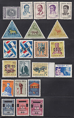 Costa Rica 1959-1967 Collection mostly never hinged
