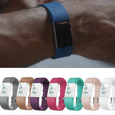 2017 Colorful L/S Silicone Replacement Wrist Band + Buckle For Fitbit Charge 2