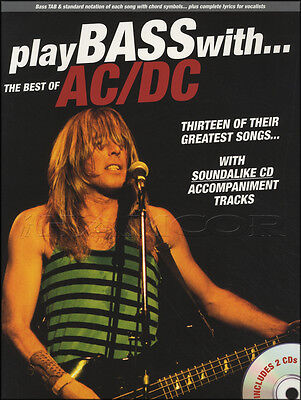 Play Bass with the Best of AC/DC Guitar TAB Music Book with 2CDs