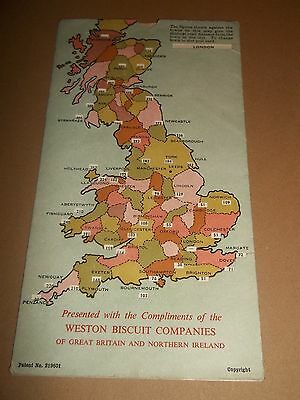 Rare ~ Road Distance Map From Point To Point ( Weston Biscuit Companies )