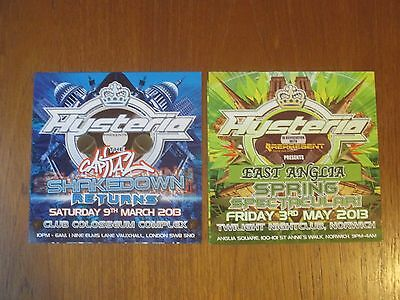 Hysteria rave flyer / flyers collection MINT - London - Norwich